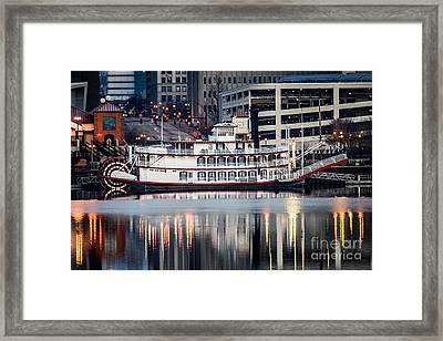 Spirit Of Peoria Riverboat Framed Print