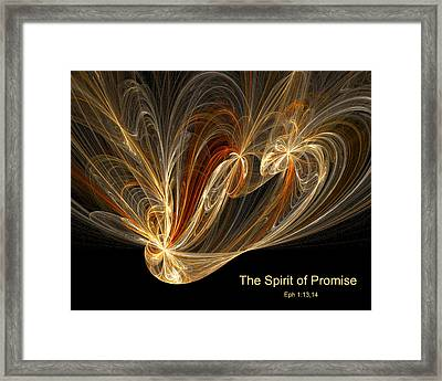 Framed Print featuring the digital art Spirit Of Promise by R Thomas Brass