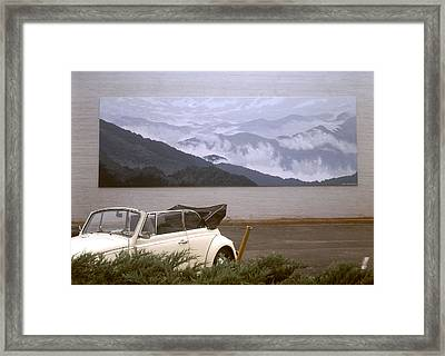 Spirit Of The Air Shown With Car Framed Print by Blue Sky