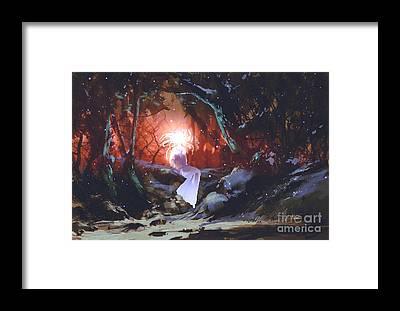 Forest Spirit Framed Prints