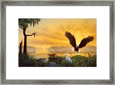 Spirit Of The Everglades Framed Print by Jerry LoFaro