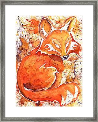 Spirit Of The Fox Framed Print by D Renee Wilson