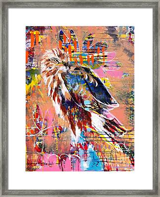 Spirit Of The Hawk Framed Print by Kim Heil