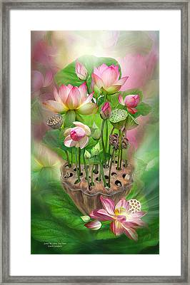Spirit Of The Lotus Framed Print by Carol Cavalaris