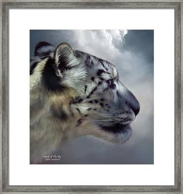 Spirit Of The Sky Framed Print by Carol Cavalaris