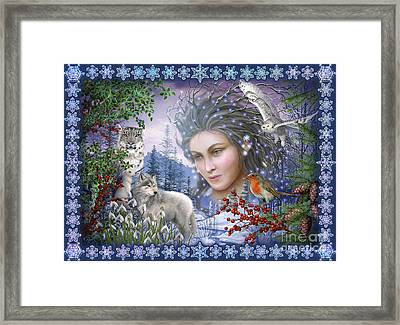 Spirit Of Winter Variant I Framed Print