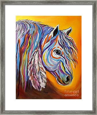 'spirit' War Horse Framed Print