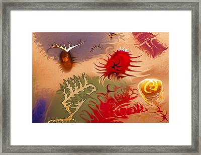Spirits And Roses Framed Print by Omaste Witkowski