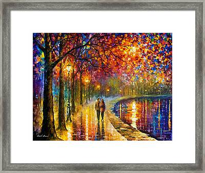 Spirits By The Lake - Palette Knife Oil Painting On Canvas By Leonid Afremov Framed Print by Leonid Afremov