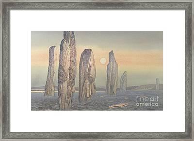 Spirits Of Callanish Isle Of Lewis Framed Print by Evangeline Dickson