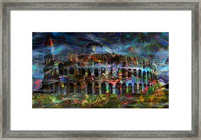 Spirits Of The Coliseum Framed Print by Jack Zulli