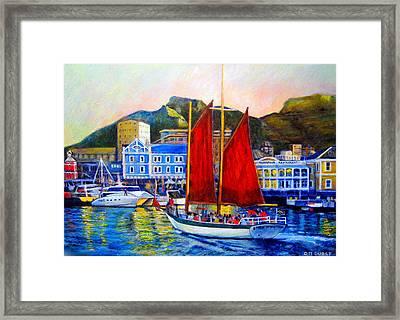 Spirit's Sunset Sail Framed Print by Michael Durst