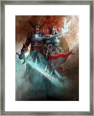 Spiritual Armor Framed Print