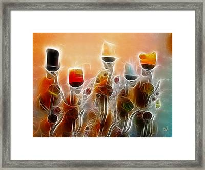 Spiritual Candles Framed Print by Music of the Heart