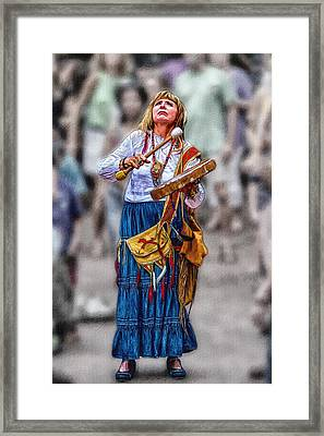 Spiritual Drums Framed Print by John Haldane