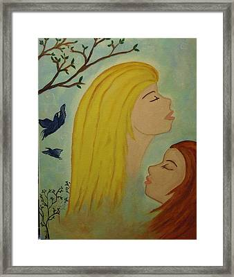Spiritual Embrace Framed Print by Marie Tucker