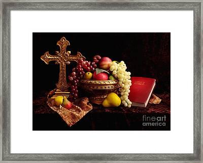 Spiritual Fruit Framed Print