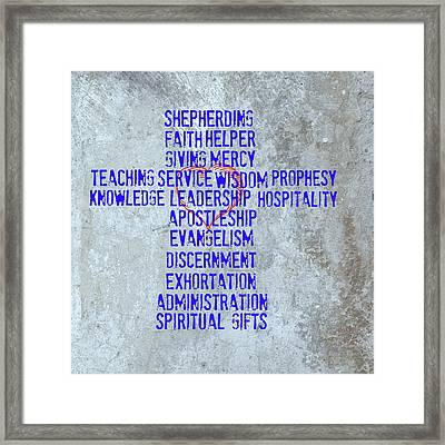 Spiritual Gifts Framed Print by Eric Liller