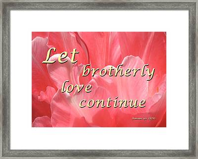 Spiritual Love Framed Print by Terry Wallace