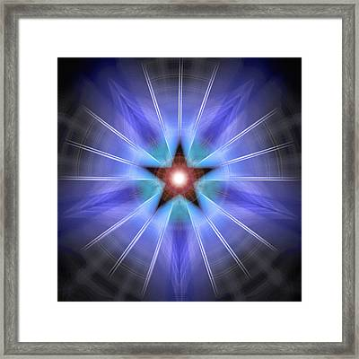 Framed Print featuring the drawing Spiritual Pulsar by Derek Gedney