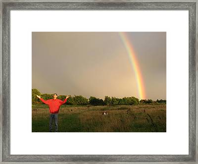 Spiritual Radiant  Light With George  Framed Print by Joseph Doyle