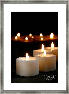 Spiritual Reflection Candles Framed Print
