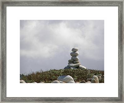 Spiritual Rock Sculpture Framed Print