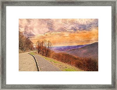 Spiritual Sunset Blue Ridge Parkway Framed Print