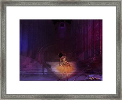 Framed Print featuring the digital art Spiritual Vortex by Kylie Sabra