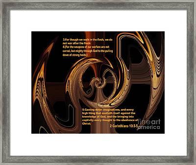 Spiritual Warfare Framed Print by Wayne Cantrell