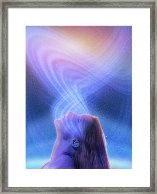 Spirituality, Conceptual Image Framed Print by Science Photo Library
