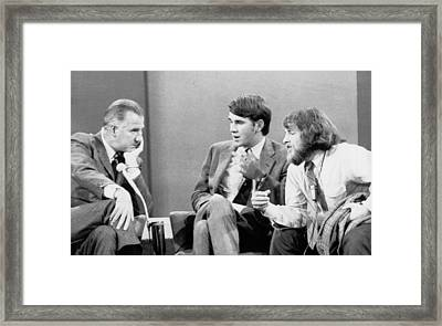 Spiro Agnew Debates Students Framed Print by Underwood Archives