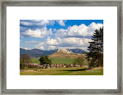 Framed Print featuring the photograph Spissky Hrad - Castle by Les Palenik