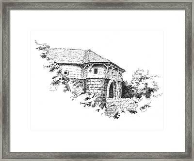 Spital Gate Rothenburg Ob Der Tauber Framed Print by Sam Sidders