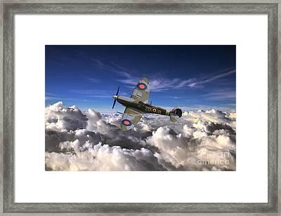 Spitfire Airobatics  Framed Print by J Biggadike