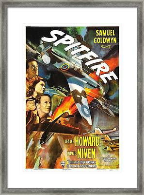 Spitfire, Aka The First Of The Few, Us Framed Print by Everett