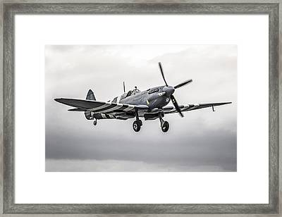 Spitfire Coming Home Framed Print