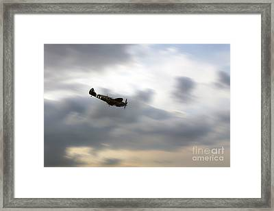 Spitfire Dive  Framed Print by J Biggadike