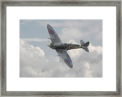Spitfire - Elegant Icon Framed Print by Pat Speirs