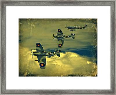 Spitfire Flight Framed Print by Steven Agius