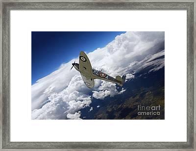 Spitfire Free  Framed Print by J Biggadike