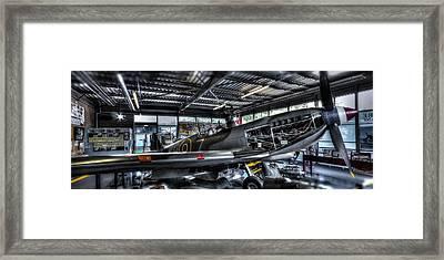 Spitfire Hanger Panorama Framed Print