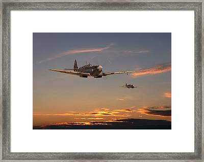 Spitfire - Mission Complete Framed Print by Pat Speirs