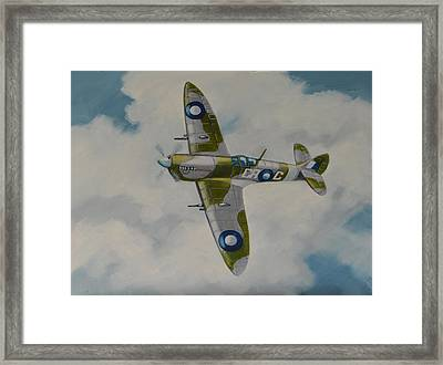 Spitfire Mk.viii Framed Print by Murray McLeod