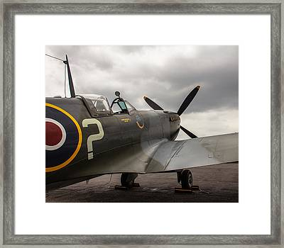Spitfire On Display Framed Print