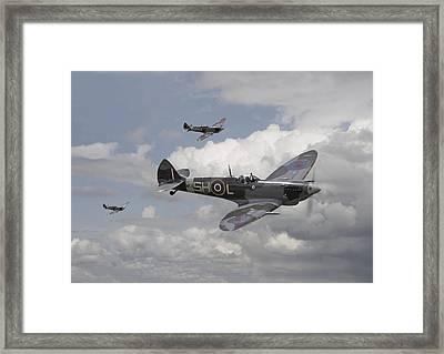 Spitfire - On Patrol Framed Print
