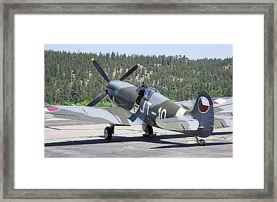 Spitfire On Takeoff Standby Framed Print