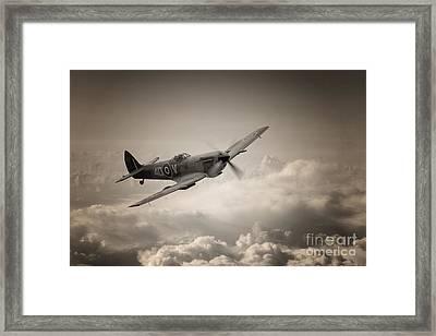 Spitfire Patrol Framed Print by J Biggadike