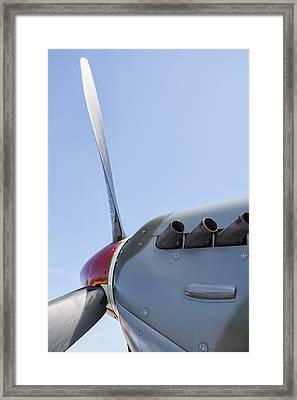 Spitfire Propeller And Exhaust Framed Print