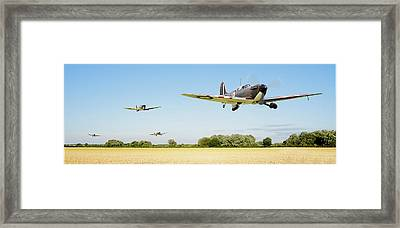 Spitfire - Red Section Airborne Framed Print by Pat Speirs